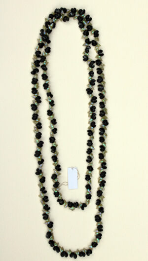 Blue Maireener & Black Crow Shell Necklace by Lola Greeno