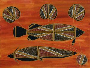 Namarnkol (Barramundi) by Selina Nadjowh