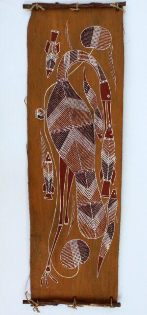 Ngalkordow (Brolga) by Leslie Ngaboy