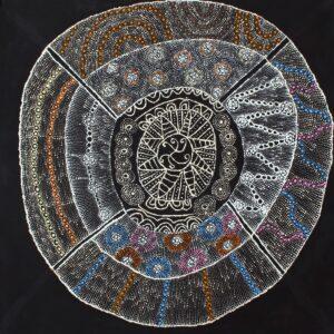 Lukarrara Jukurrpa (Desert Fringe-Rush Dreaming) by Hilda Nakamarra Rogers