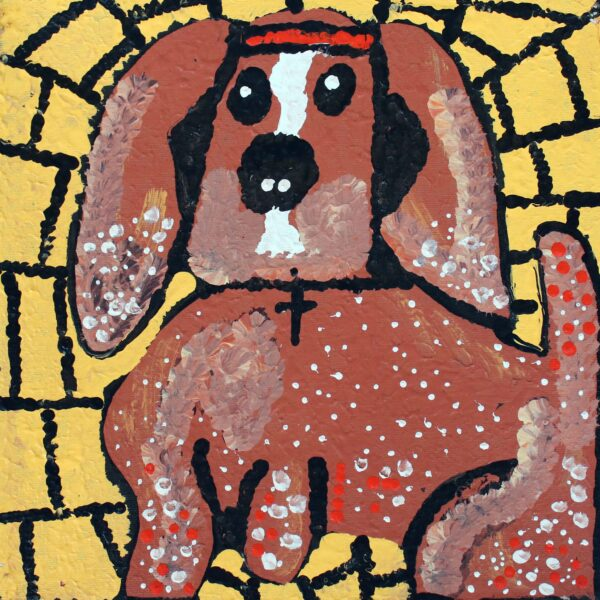 Dogs That Live In Yuendumu by Angelina Nampijinpa Tasman