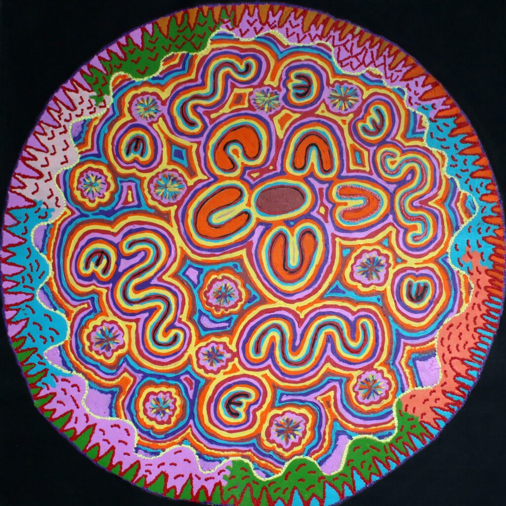 Janganpa Jukurrpa (Brush-Tail Possum Dreaming) BY Valerie Napurrurla Morris