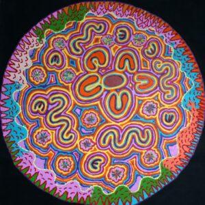 Janganpa Jukurrpa (Brush-Tail Possum Dreaming) BY Valerie Napurrurla Morris