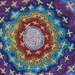 Ngatijirri Jukurrpa (Budgerigar Dreaming) by Kershini Napaljarri Collins