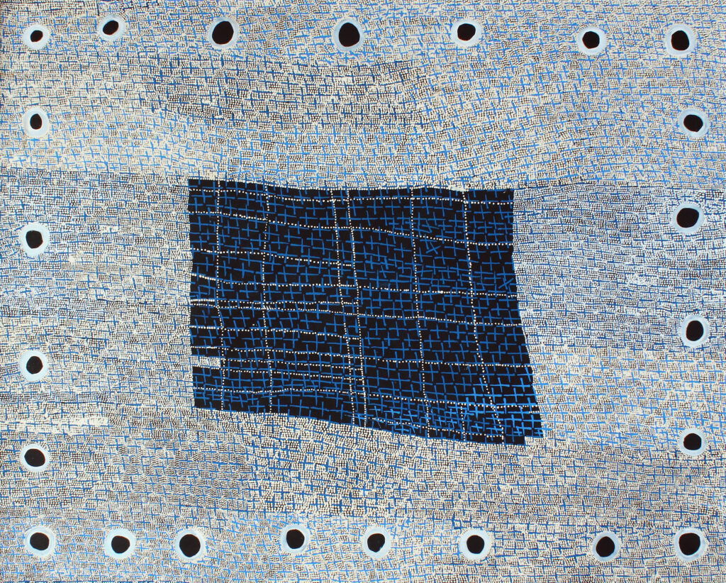 Ngatijirri Jukurrpa (Budgerigar Dreaming) BY Lorraine Nungarrayi Granites