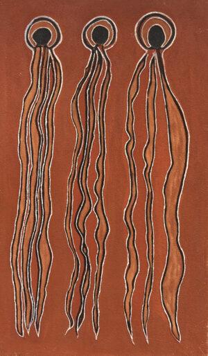 Ceremonial Men - Hair Unwound by Jonathan Kumintjarra Brown