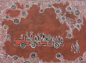 Aust Army picking up people from Maralinga by Jonathan Kumintjarra Brown