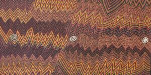 Mina Mina Jukurrpa (Mina Mina Dreaming) Ngalyipi by Margaret Napangardi Lewis