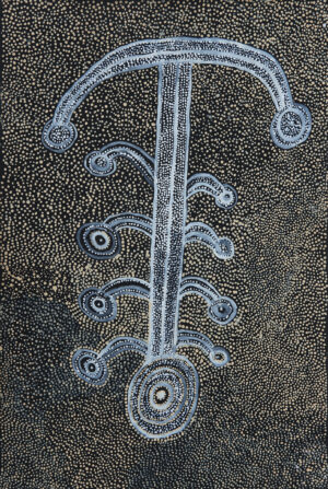 Pikilyi Jukurrpa (Vaughan Springs Dreaming) by Marshall Japangardi Poulson