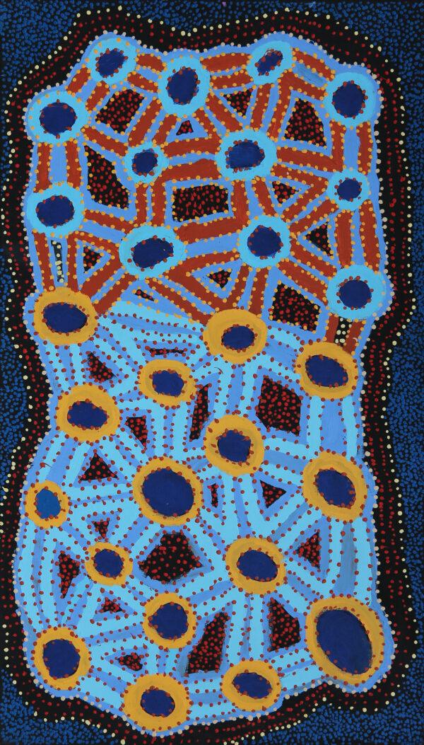 Ngapa Jukurrpa (Water Dreaming) Puyurru by Watson Jangala Robertson