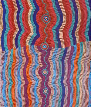 Pikilyi Jukurrpa (Vaughan Springs Dreaming) Nguri by Selina Napanangka Fisher