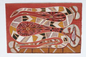 Kedjebe (File snake) Bulukkurri (Eel) & Mandem by Gabriel Maralngurra