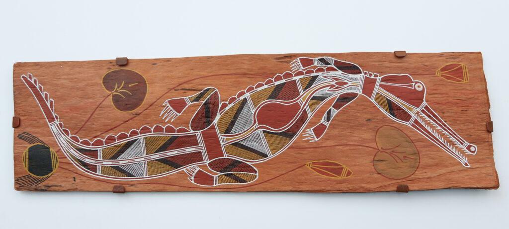 Kumoken (Freshwater crocodile) by Isaiah Nagurrgurrba