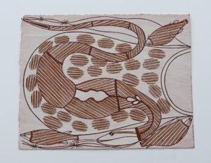 Burarr Dja Karnubirr (Water Goanna & Mud Mussels) by Ezariah Kelly