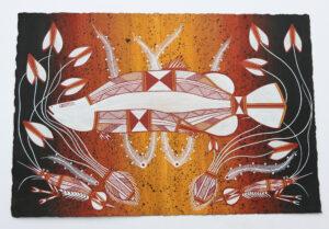 Namarnkol (Barramundi) by Tyrone Garnarradj