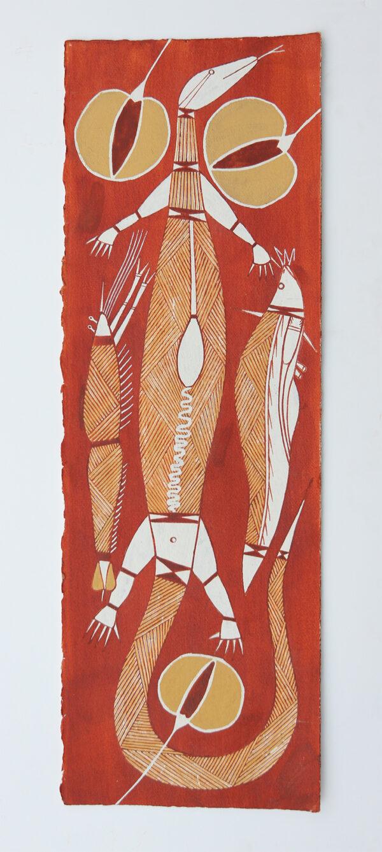 Burarr (Water Goanna) by Roland Burrunali