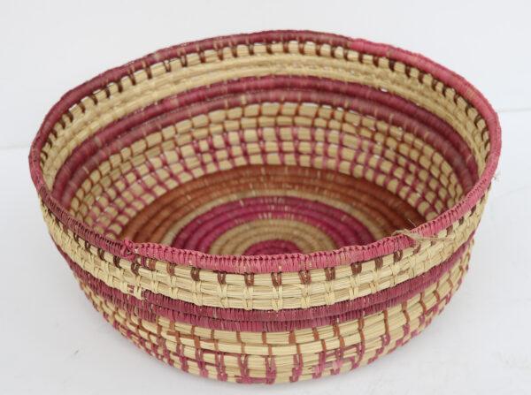 Coiled Pandanus Basket by Eleanor Manakgu