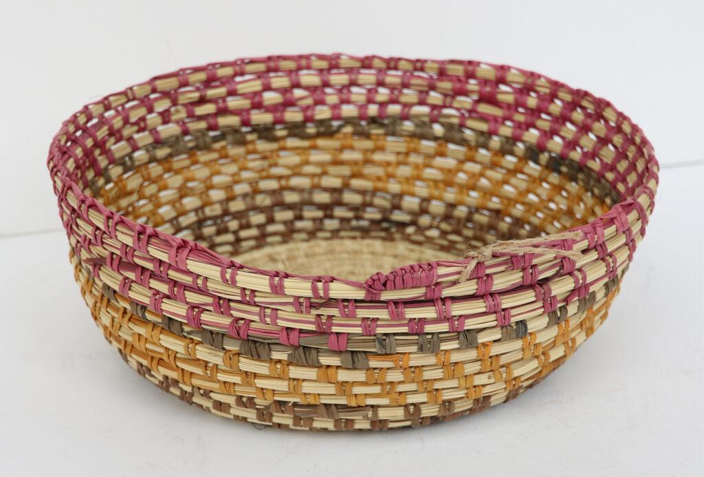 Coiled Pandanus Basket by Jady Girrabul