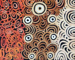 Walka mimiku - breast paint by Anawari Mitchell
