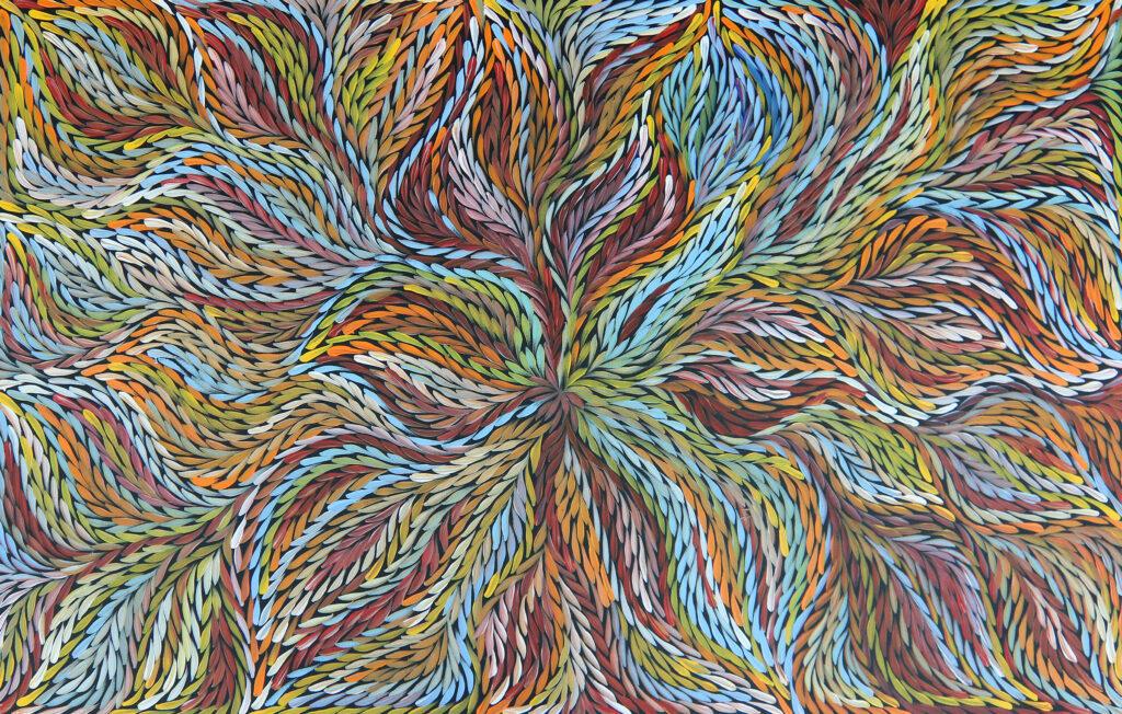 Bush medicine painting by Jeannie Petyarre