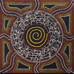 Ochre painting by Mick Quilliam