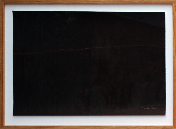 Framed monoprint by Dennis Nona