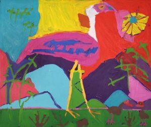 Painting by Karen Napaljarri Barnes