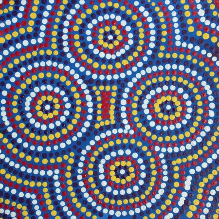 Lukarrara Jukurrpa (Desert Fringe-Rush Seed)by Mekisha Nakamarra Brown