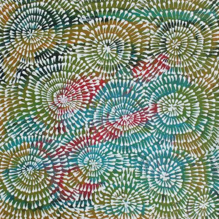 Jitilypuru Jukurrpa (Red Malle Flower Dreaming) by Sylvaria Napurrurla Walker