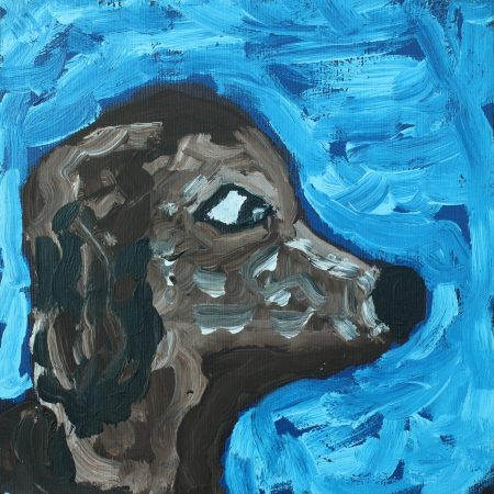 Dogs That Live In Yuendumu by Cherylyn Napangardi Granites