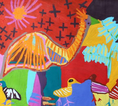Emus by Karen Napaljarri Barnes