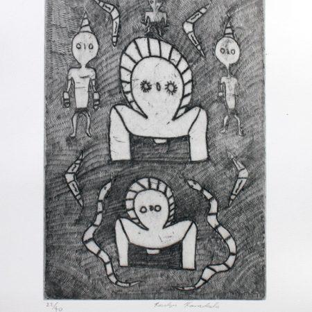 Wandjinas by Rosalyn Karadada